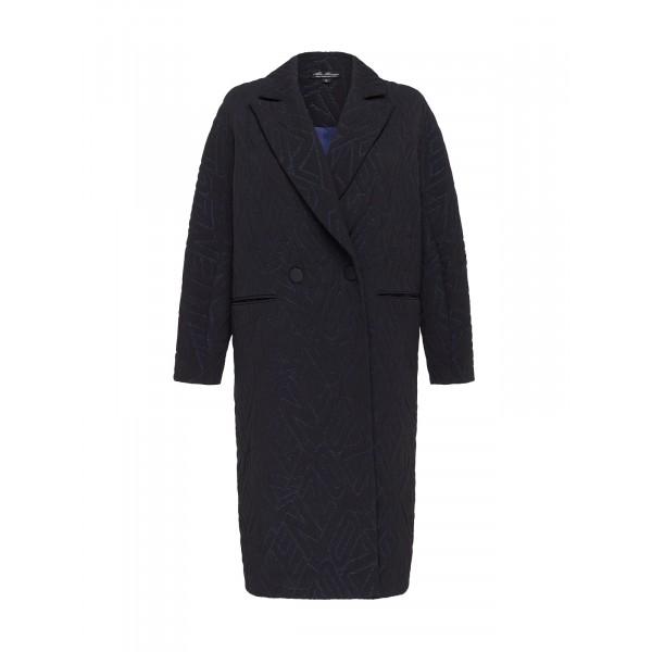 Пальто oversize с люрексом