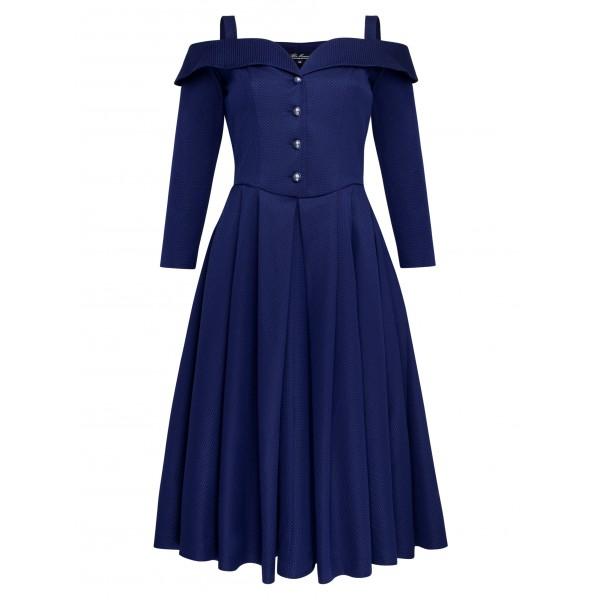 Жаккардовое платье на бретелях