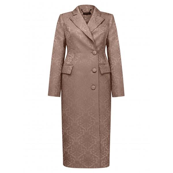 Жаккардовое платье-пальто