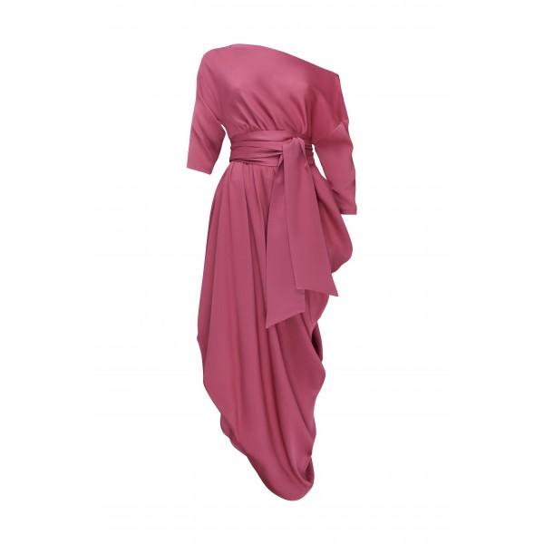 Платье BigLove шелковый с поясом