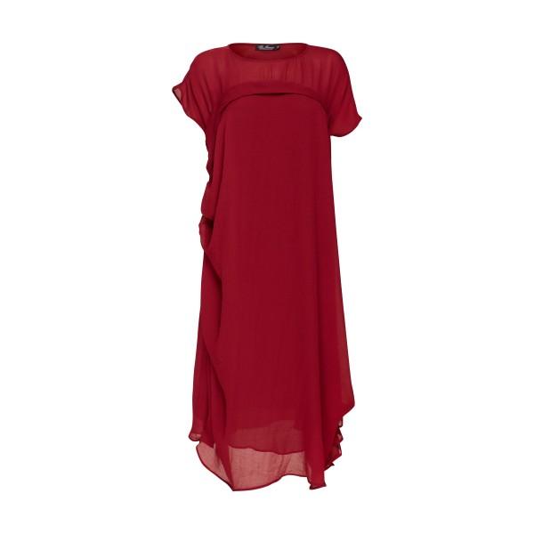 Асимметричное платье из муслина